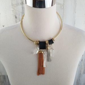 Jewelry - 4/$20 Gemstone and Tassels Statement Necklace
